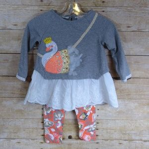 Rare Editions Swan Princess 2pc Girls Outfit